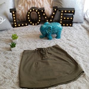 Express Olive Green Mini NWOT